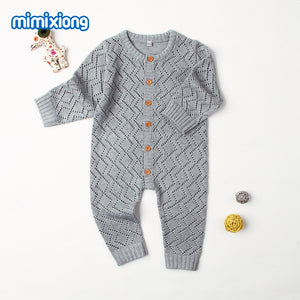 Winter 2018 Baby Rompers Long Sleeve Toddler Girls Overalls Autumn Candy Color Newborn Jumpsuits Infant Boys One Piece Clothing-eosegal