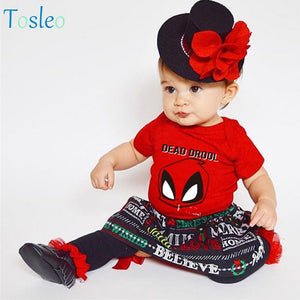 2018 Baby Bodysuit Red Letter Printed Children Costumes New Born Colthes Toddler Clothes-eosegal