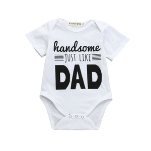 Newborn Infant Baby Boys Girls Letter Print Romper Jumpsuit Outfits Clothes psw0704-eosegal