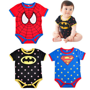 Romper Infant Clothing Jumpsuits Spiderman Summer Baby Fashion Custume Rompers Short Sleeve Superhero Superman Batman Newborn-eosegal