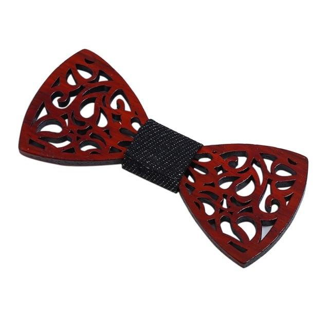 New Arrival Hollow Carved Wooden Bow Ties Handmade Bow Tie Wedding Partyeosegal-eosegal