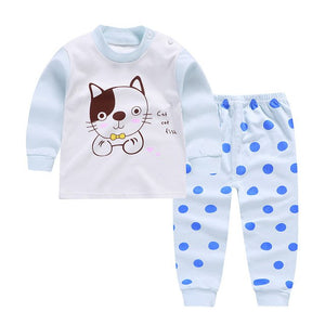 2018 Fashion Winter New Newborn Baby Cartoon bear baby boy clothes High Quality cotton baby girl clothes set-eosegal