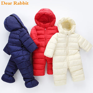 2018 brand newborn winter baby girl clothes boy clothing light cotton coats spring jumpsuits kidsr snowsuit Snow Wear warm rompe-eosegal