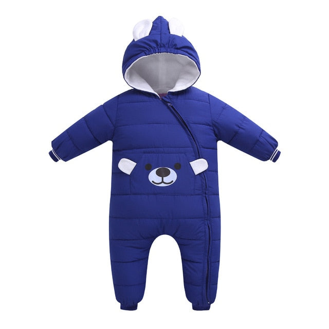 Autumn Winter Newborn Infant Baby rompers boy girl Clothes Animal Style Clothing Romper Cotton-padded Overalls jacket for girls-eosegal