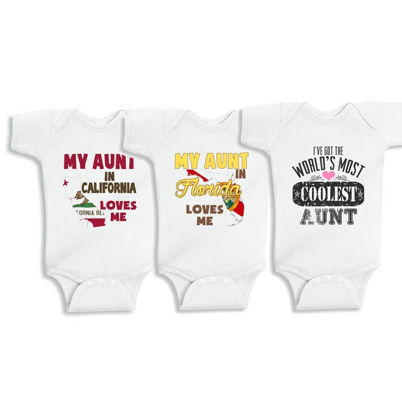 YSCULBUTOL I love my Parents but aunt is the best baby bodysuit or Infant Unisex White Short Sleeve Baby Bodysuit-eosegal
