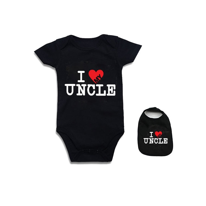 Baby ClothesNewborn Baby Bodysuit Short Sleeve Baby Boy Girl Clothes Funny auntie uncle jumpsuit Tiny Cottons Baby Clothes 0-12m-eosegal