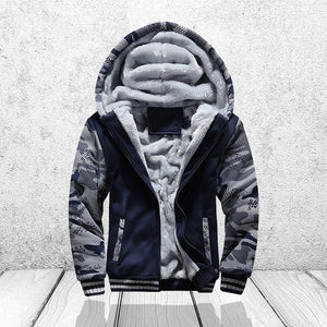 Winter Sweatshirt Men Hoodie Male Coat Hooded Brand Casual Zipper Thicken Velveteosegal-eosegal