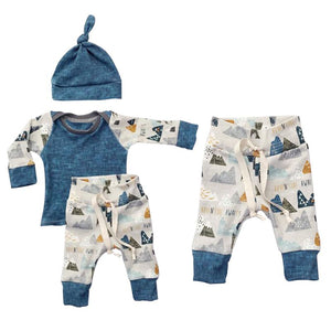 Kids Boys Girls Clothing Sweatshirt+Bottoms Pants+Hat Clothes Set Spring Summer Newborn Baby Cloth Sets 3PCS-eosegal