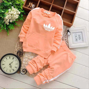 Brand Baby Boy Clothing Suits Autumn Casual Baby Girl Clothes Sets Children Suit Sweatshirts+Sports pants Spring Kids Set-eosegal