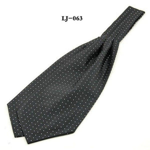 New Men's Polka Dots Woven Jacquard Ascot Tie Cravat British Neckeosegal-eosegal