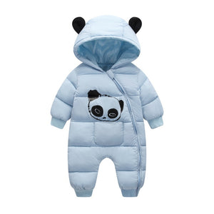 Baby boy girl Clothes 2018 New born Winter Hooded Rompers Thick Cotton Outfit Newborn Jumpsuit Children Costume toddler romper-eosegal