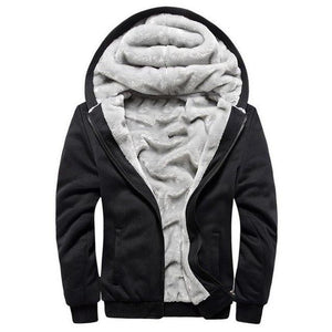 Winter Soft Men Hoodies, Sweatshirts Velvet Fleece Warm Men's Jackets Coats Solideosegal-eosegal