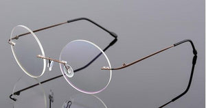 ultra-light rimless Optical frame men women Titanium Rimless eye glasses Frameeosegal-eosegal