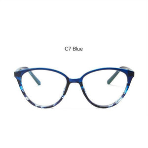 2018 Cat Eye Glasses Frame Women Fashion Ultra Light Transparent Opticaleosegal-eosegal