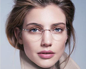ultra-light rimless Optical frame men women Titanium Rimless glasses Frame roundeosegal-eosegal