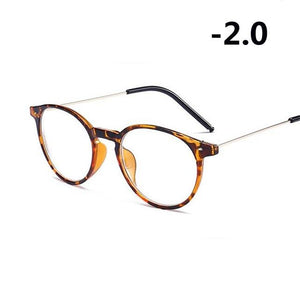 Finished Myopia Glasses Women Oval Steel Wire Legs Frame Clear Lens Sightedeosegal-eosegal