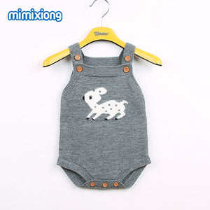 Adorable Reindeer Bodysuit for Girls Christmas Coveralls Autumn Sleeveless Newborn Boys Onesie Winter Toddler Kid Animal Clothes-eosegal