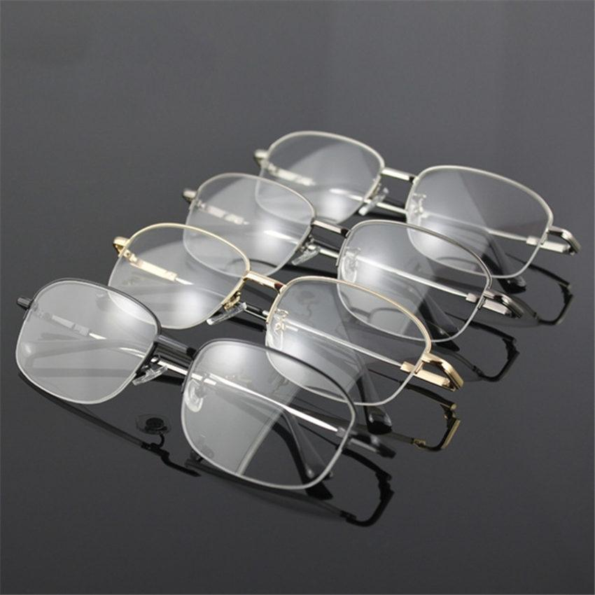 YOOSKE Memory Titanium Glasses Half Frame Optical Eyeglasses Frame Men Retro Half-frameeosegal-eosegal