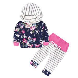 2018 Winter Autumn Newborn Infant Baby Boy Girl Clothes Hooded+Pants Outfits Kids Clothes For Boys Clothing Set 18 24 12 Months-eosegal