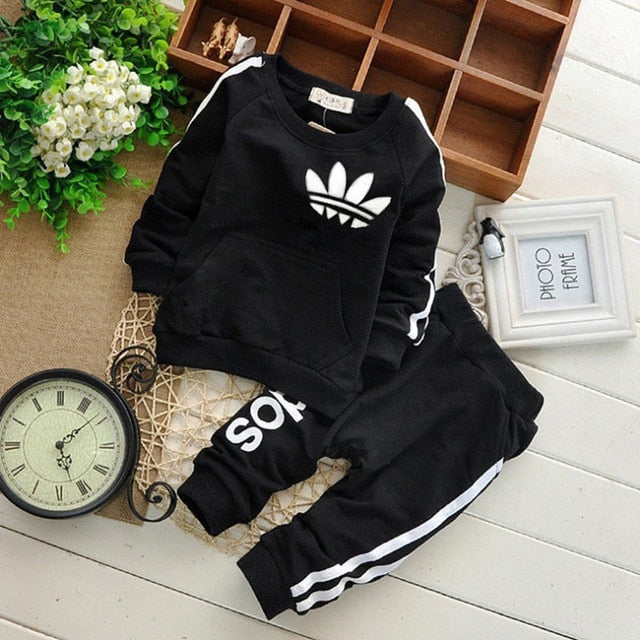 Brand Baby Clothes Suits Causal Baby Girls Boys Clothing Sets Children Suits Clothes 2 Pieces Sweatshirts Sports Pants Kids Sets-eosegal