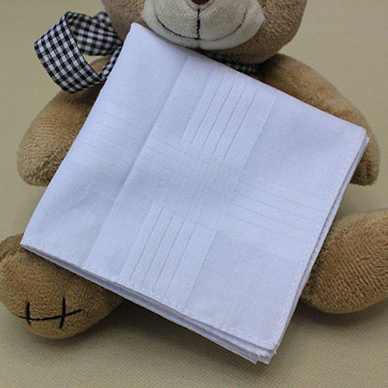 5 pcs/lot 100% Cotton Solid White Men Handkerchief Export item 40cm*40cm [Fasteosegal-eosegal