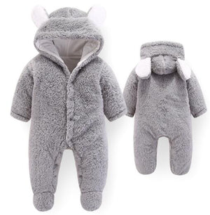 2018 New Autumn Winter Baby Romper 1 to 12M Kids Newborn Footies Bodysuit Hooded Infant Cotton Jumpsuit Baby Boy Girl Clothing-eosegal