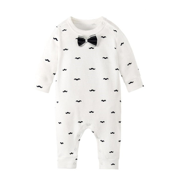 Brand New Fashion Newborn Toddler Infant Baby Boys Romper Long Sleeve Jumpsuit Playsuit Little Boys&Girls Outfits Black Clothes-eosegal