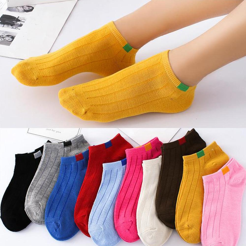 1Pair Unisex Comfortable Stripe Cotton Socks Woman Slippers Short Ankle Socks in Ten Colour High Quality New Fashion 2018-eosegal