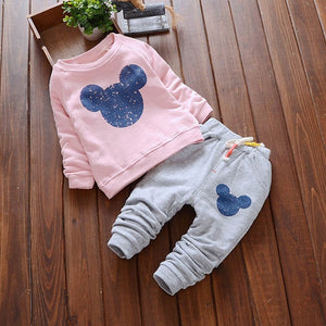 Bear Leader Baby Girls Clothes Casual Spring Baby Clothing Sets Cartoon Printing Sweatshirts+Casual Pants 2Pcs for Baby Clothes-eosegal