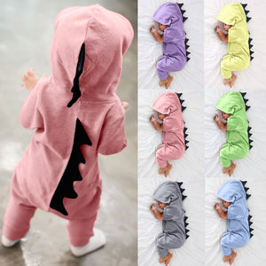 New Newborn Infant Baby Boy Girl Dinosaur Hooded Romper Jumpsuit Outfits Clothes Drop Shipping-eosegal