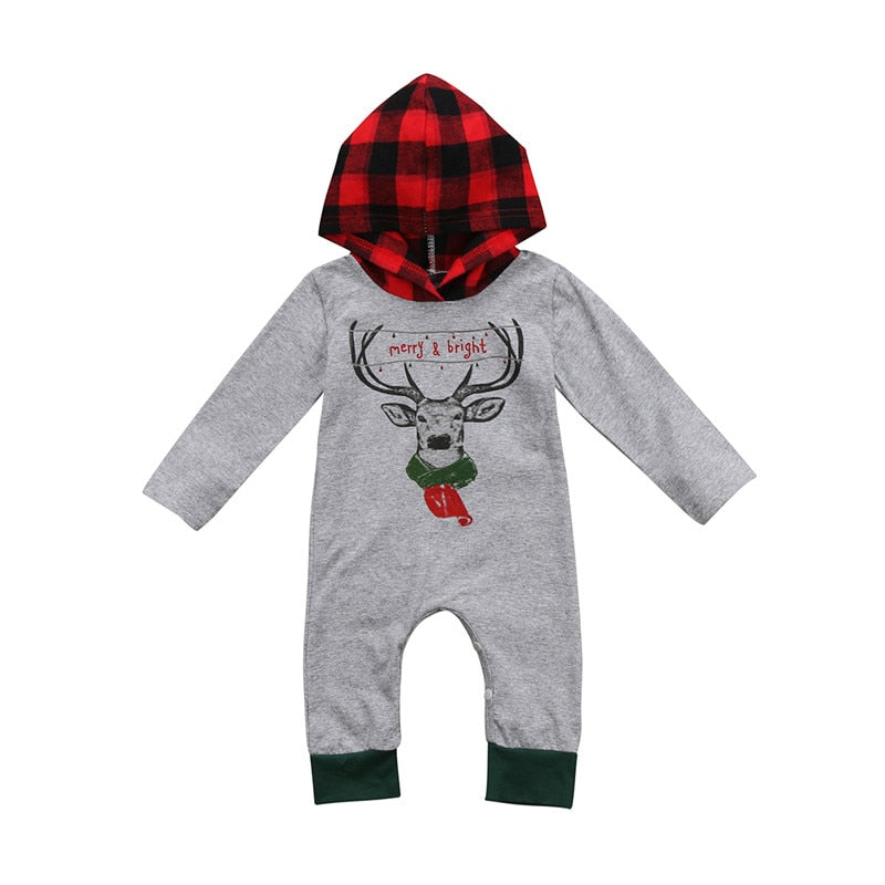 Big Sale Newborn Baby Boy Girl Winter Autumn Christmas Cartoon Long Sleeve Hooded Bodysuit Outfits Clothes 0-24M-eosegal