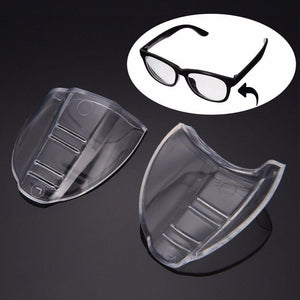 Universal Clear Flexible Side Shields Safety Glasses Goggles Eye Protection 1 Paireosegal-eosegal