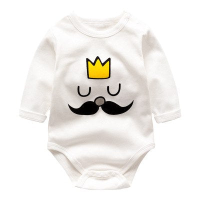Brand Baby Boy Bodysuit Newborn White Long Sleeve Cotton Jumpsuit Infant I Love Mama Papa Bodysuit Baby Costume Onesie-eosegal