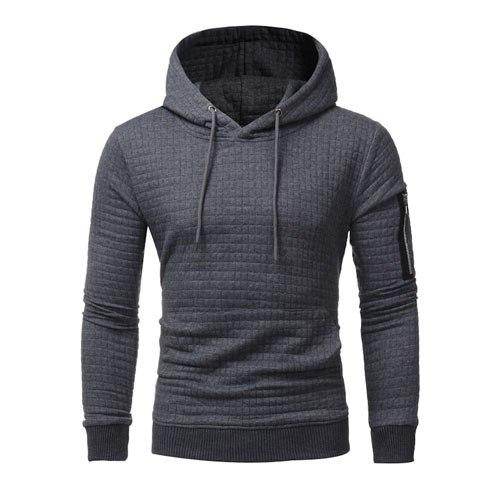 Hoodies Men 2018 Brand Male Long Sleeve Solid Color Hooded Men's Sweatshirteosegal-eosegal