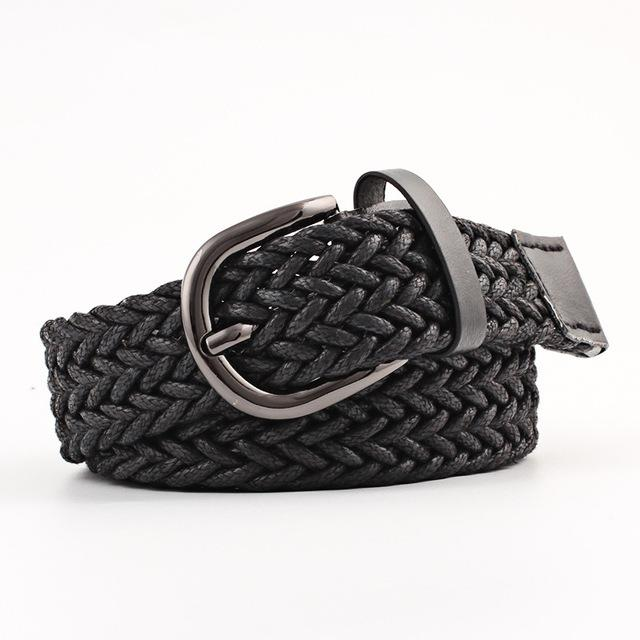 Faux leather belt High Quality Woman Fashion 2018 belt Weave Braided strap Wide waistband Luxury girdle for female jeans-eosegal