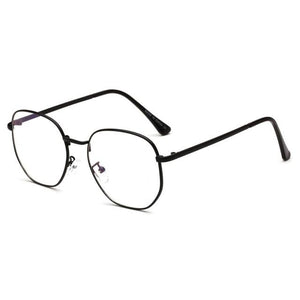 Men Women Oversized Round Blue Ray Computer Glasses Brand Designer Light Metaleosegal-eosegal