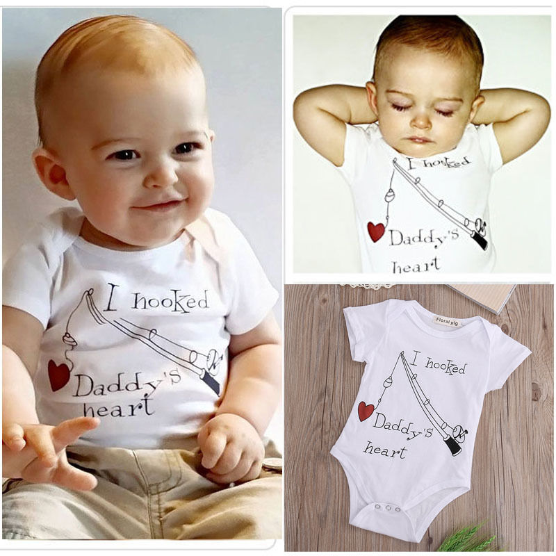 2016 Newborn Baby Boys Girls Clothes Bodysuit 0-24M Infant Toddler Kids Summer Clothes Short Sleeve Playsuit One-Pieces Outfit-eosegal