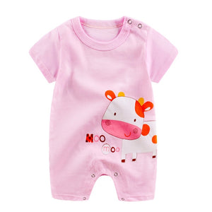 baby rompers summer 100% cotton short sleeve newborn girls boys clothing infant rompers toddler new born clothes 0-18 months-eosegal