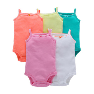 wholesale 5pcs/lot baby bebes kids girl clothes set cotton short sleeve o-neck cute romper 2018 new baby boy girls jumpsuit-eosegal