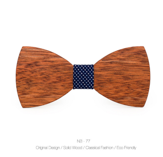 Wood Bow Tie Mens Wooden Bow Ties Party Business Butterfly Cravat Partyeosegal-eosegal