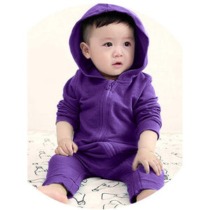 Baby Girls Boys Rompers Infant Toddler Kids Dinosaur Hoodie Romper Zip Jumpsuit Clothes Long Sleeve Autumn Cotton Baby Rompers #-eosegal