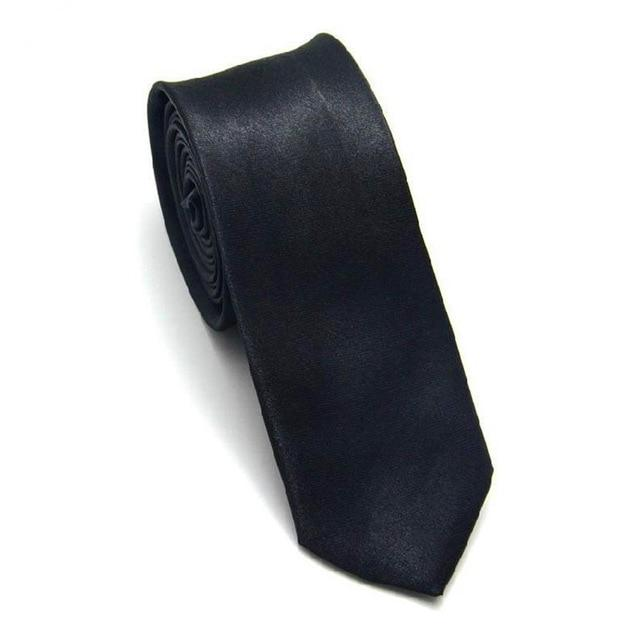 Slim Narrow Black Tie For Men 5cm Casual Arrow Skinny Red Necktieeosegal-eosegal