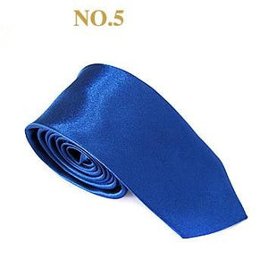 2018 Fashion 5 cm Handmade Slim Tie Men Smooth Satin Neck Tieseosegal-eosegal