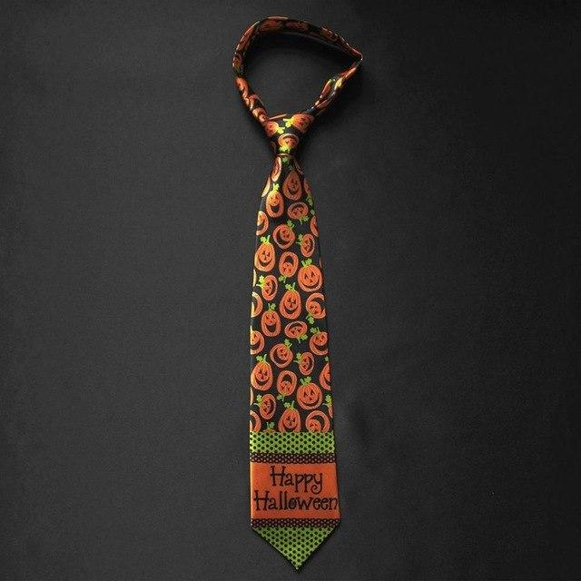 Original ALL SAINT' DAY Necktie 4 inch Print Funny Hallowmas Tieeosegal-eosegal