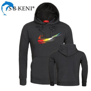 2018 Gradient Color JUST DO IT Hoodies Cotton Polyester Funny Print Hoodieeosegal-eosegal