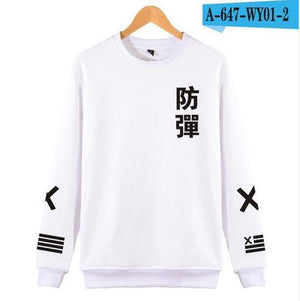 2018 BTS Kpop Hoodies men/women Harajuku Black Cotton Fashion Sweatshirt men/women Hipeosegal-eosegal