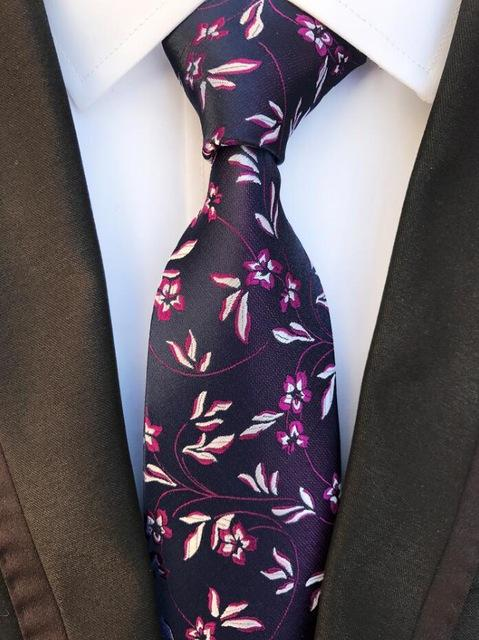 New Floral Ties Men's 8cm Tie Fashion Striped & Paisley Silkeosegal-eosegal