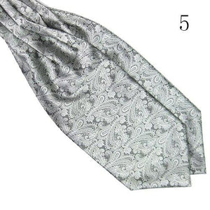 Men Classic Vintage Colorful Silky Satin Wedding Formal Banquet Necktie Cravat Ascoteosegal-eosegal