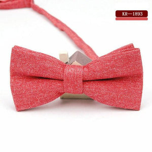 KR1883 Adjustable Men's Cotton Bow tie Man bows Ties Solid Bowtie Partyeosegal-eosegal