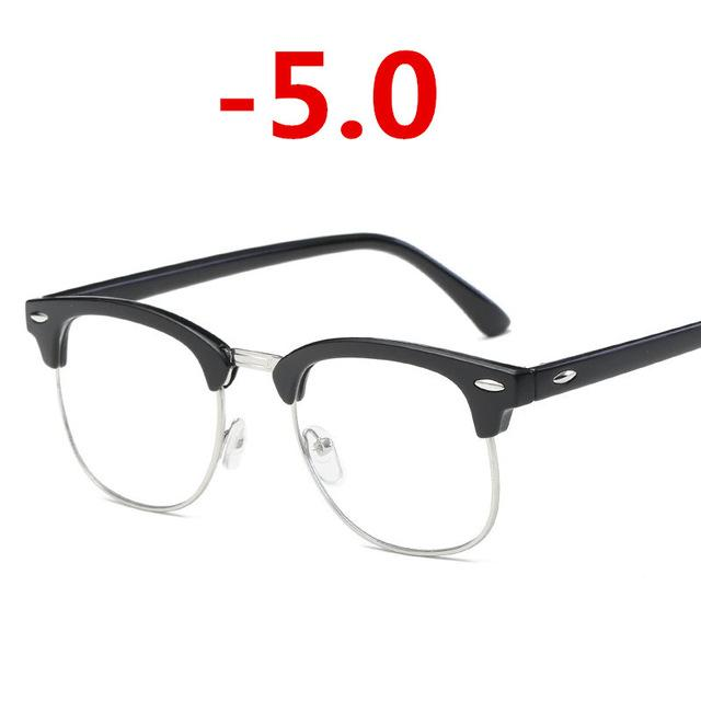 Finished myopia glasses Men Women reading Eyeglasses myopia frame Lens prescription opticaleosegal-eosegal